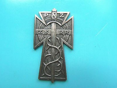 #1351b POLAND EXILE MADE POLISH FORCES IN SOVIET UNION BADGE, extremely rare