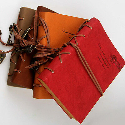 Retro Leather Vintage String Key Blank Diary Notebook Journal Classic Sketchbook