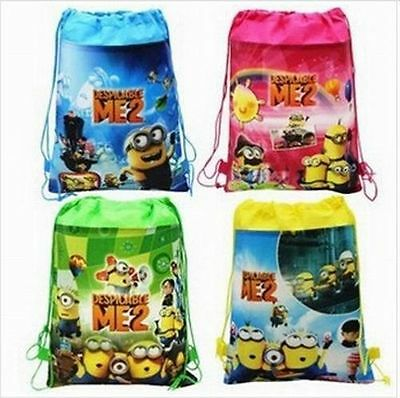 Despicable Me2 Backpack Swimming Clothes Environmental Toy Drawstring Bag