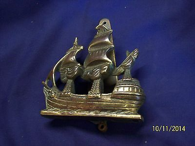 Large Brass Galleon  Door Knocker Y121