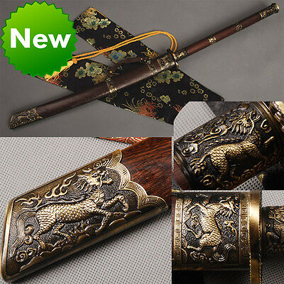Real Handmade Chinese KangXi saber broadsword Qing dyasty sword sharp knives