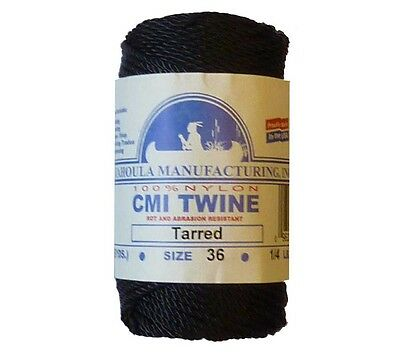 Catahoula #36 Tarred Twisted Bank Line 1/4 lb Spool 117' 348 lb Test Nylon Twine