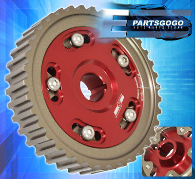 Honda D15 D16 Sohc Billet Aluminum Replacement Cam Shaft Gear Wheel Sprocket Red