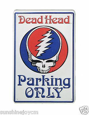 Grateful Dead Steal Your Face Parking SIgn Replica Acrylic Magnet  FREE SHIPPING