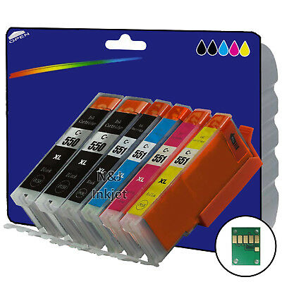 1 Set + 1 Black Compatible Printer Ink Cartridges for Canon Pixma MG5650 [550/1]