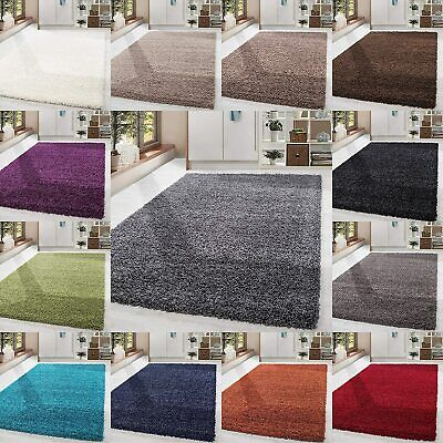 Large Soft Shaggy Non-Shed Rugs Fluffy Modern Thick Pile Plain Carpet Comfortabl