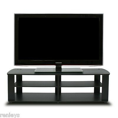Black Tv Stand Media Entertainment Center 42 50 60 Inch Flat Screen Television