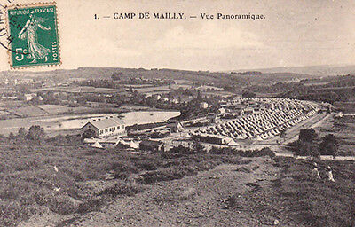 MAILLY camp 1 vue panoramique timbrée