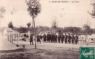 MAILLY camp 6 le poste timbrée 1909