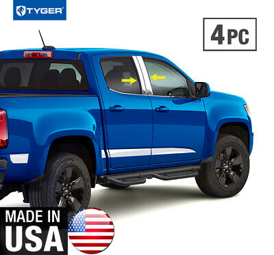 TYGER Fit 15-18 Chevy Colorado Extended Cab 2PC Stainless Steel Pillar Post Trim