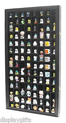 100 Thimble Display Case Cabinet Shadow Box, with glass door, TC100-BLA