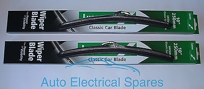 "lucas STAINLESS STEEL wiper blade 10"" PAIR for CLASSIC Mini / MGB"