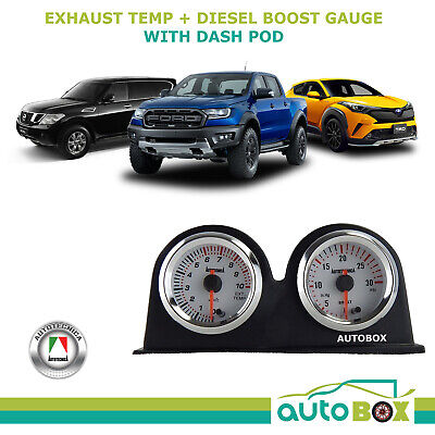 4WD EGT and Diesel Turbo Boost Gauge - 7 Colour Backlight