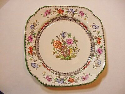 """Copeland Spode England """"Chinese Rose"""" Square Salad Plate / Serving Bowl - NICE!"""