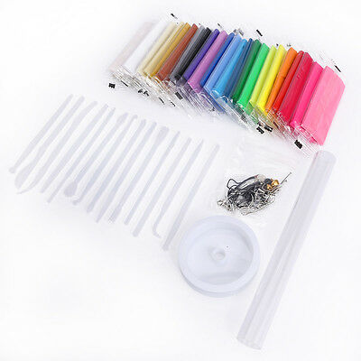 24 Colors Pack Tool set Oven Bake Polymer Clay Fimo Effect Modelling Moulding