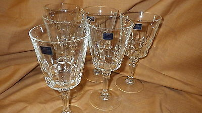 Crystal Wine Glasses 6 Chantelle Pattern Lady Victoria of France  24%  lead crys