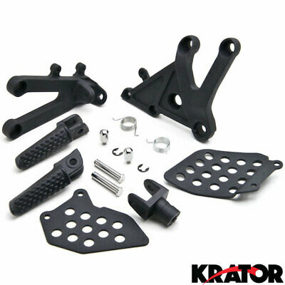 Front Foot Rest Peg Step Frame Fittings Assembly Kit Honda CBR 600RR 2003-2006