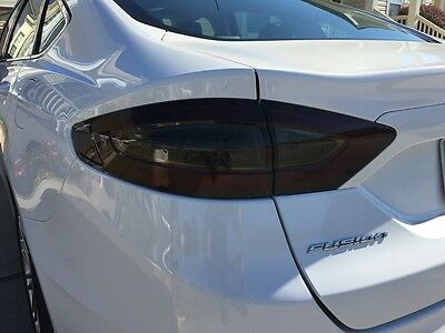 13-16 Ford Fusion Smoke Tail Light Precut Tint Cover Smoked Overlays