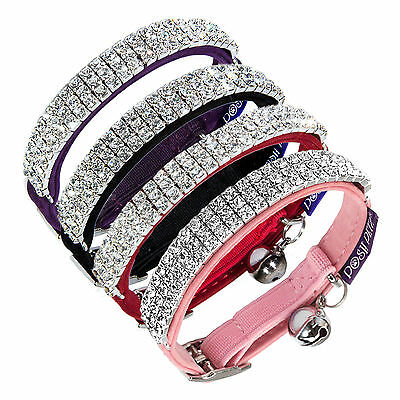 Posh Petz® Branded Luxury Velvet Diamante Rhinestone Jewellery Cat Safety Collar