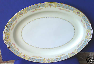 """16"""" Oval Serving Platter Ransom Japan RNS10 Flowers Vases CLOSEOUT"""