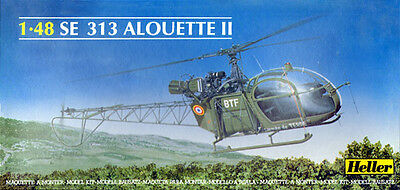 Heller French SE 313 Alouette II Helicopter model kit 1/48