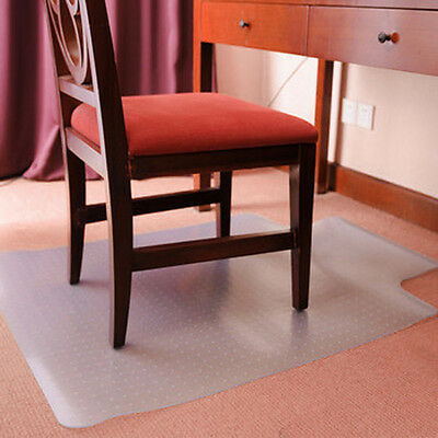 Lipped Office Home Chair Mat Carpet Protector Frosted PVC Spiked 90x120cm