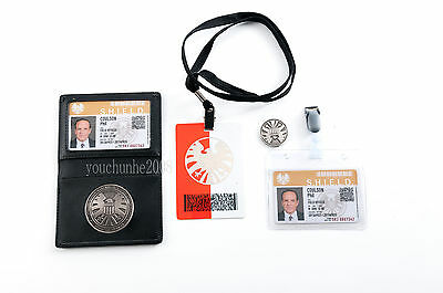 Agents Of S.h.i.e.l.d Shield Badge In Holder Phil Coulson's 2 Cards -35628
