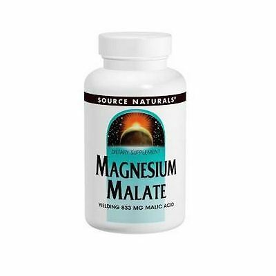 MAGNESIUM MALATE, 1250mg x180Tablets, Source Naturals, 24Hr Dispatch