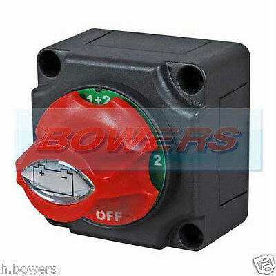 12v 24v MARINE 4 POSITION CHANGEOVER BATTERY ISOLATOR CUT OFF KILL SWITCH
