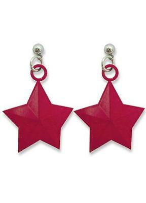 Sailor Moon Rei Hino Sailor Mars Red Star Earrings Official Product for Cosplay