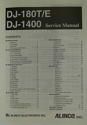 Alinco service manual for model DJ180T/1400