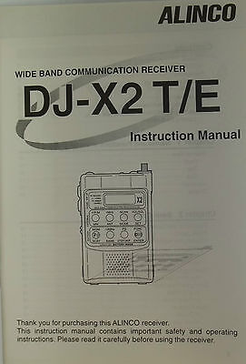 Alinco instruction manual for model DJ-X2T