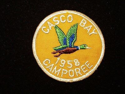 BOY SCOUT  PINE TREE COUNCIL  1958 CASCO BAY CAMPOREE   MAINE