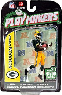 NFL Playmakers Ser3 Charles Woodson Packers 4in Action Figure McFarlane Toys