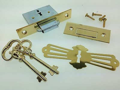 Roll-top Desk or Chest lock with self closing strike hardware