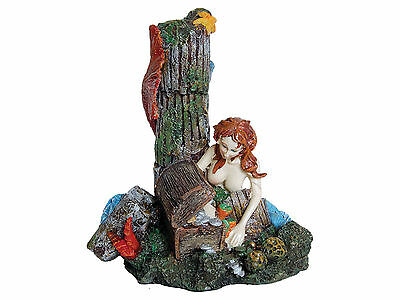 Mermaid with Treasure Chest Aquarium Fish Tank Ornament Decoration