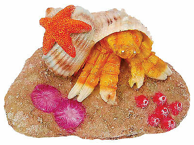 Crab on Rock Aquarium Fish Tank Ornament Decoration