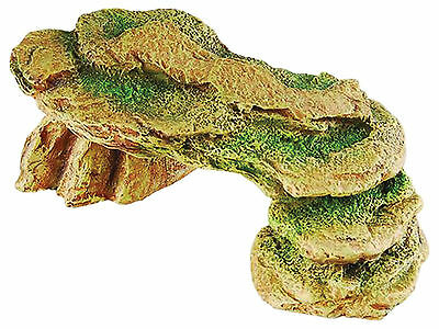 Rock with Moss Vivarium Terrarium Reptile Ornament Decoration