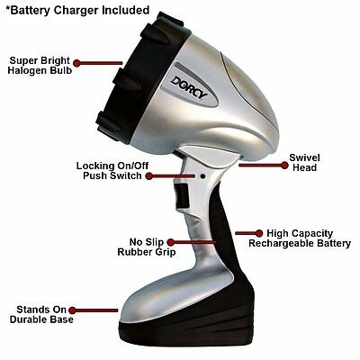 Power Rechargeable Spotlight With Charging Adaptors Flashlight Camping Working