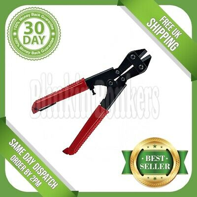 "Heavy Duty 8"" Bolt Cutter Wire Mesh Metal Cable Cropper Clipper Cutting Tool 34D"