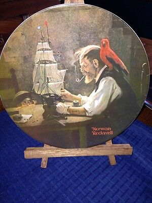 """The Ship Builder"" By Norman Rockwell 8 1/2"" Plate"