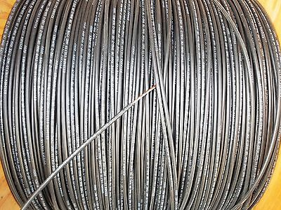 100' Foot, 10 AWG, Copper Wire, 600V Stranded Cable Gauge Power Lead Black MTW