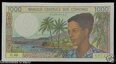 Comoros Paper Money 1000 FRANCS 1994 UNC