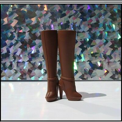 2013 Barbie Look City Shopper Brown Designer Boots...#X9196 For The Collector!