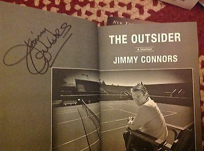 JIMMY CONNORS  Signed Book: THE OUTSIDER