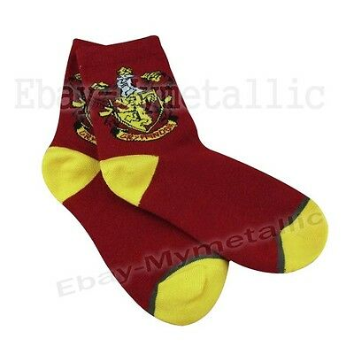 Harry Potter Gryffindor House LOGO Knit Wool Socks ONE PAIR