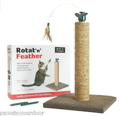 Cat n Scratch Post Rotat 'n' Feather Scratching Pole Toy sharples 'n' grant tree