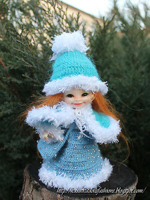 Snow Maiden outfit outfit for BJD RealPuki (Real Puki) FairyLand Dolls
