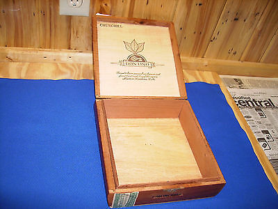 Churchill Cigar Box,1973 all Wood with Stamp, Don Lino