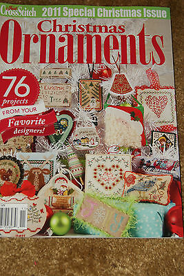 Just Cross Stitch  Christmas Ornaments 2011 Counted Cross Stitch Patterns NEW